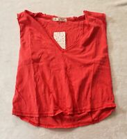 Free People Women's Cut-Out Detail Sandy Tank Top NB7 Pink Small NWT