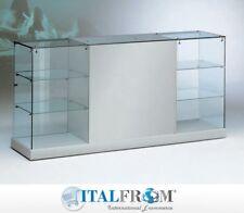 Vetrina banco vetrinetta showcase espositore arredo negozio leather 183x46x90h