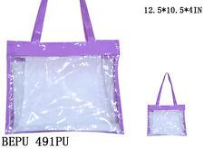 See-Thru Clear Jelly Plastic Tote Purse Bag-BEPU 491 PU