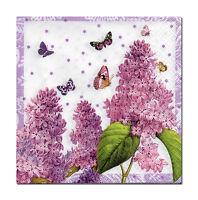 4 Servietten Motivservietten Tovaglioli Napkins Blumen Schmetterlinge (704)