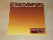 28864) Renault R18 R 18 variable Prospekt 197?