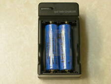 4 ULTRAFIRE 14500 Li-ion RECHARGEABLE BATTERY + CHARGER
