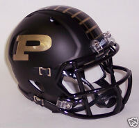 PURDUE BOILERMAKERS RIDDELL BLACK MATTE SPEED FOOTBALL MINI HELMET #8014145