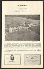 33 BORDEAUX LES GRANDS VINS CHATEAU RIEUSSEC SAUTERNES FARGUES 1979