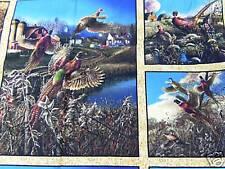 Tela Patchwork - All Over - FAISANES 60 x 110cm BW multicolor C.motivos