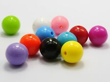 """30 Mixed Bubblegum Color Acrylic Round Beads 16mm(0.62"""") Smooth Ball"""