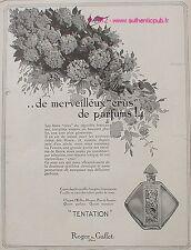 PUBLICITE PARFUM TENTATION CHYPRE ROGER & GALLET 1926 FRENCH ADVERT PERFUME PUB