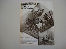 advertising Pubblicità 1981 MOTO JAWA 350/350 VELOREX