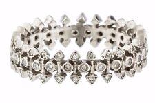 $4700 CATHY WATERMAN ARROW DIAMOND STACKING BAND RING 6.5 ESTATE PLATINUM
