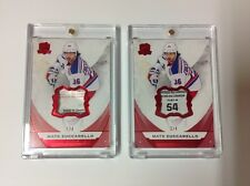 2015-16 The Cup Hockey Mats Zuccarello Rangers Red Tag Patch Cards 1/4+2/4