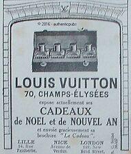 PUBLICITE LOUIS VUITTON NECESSAIRE DE TOILETTE MALLE VOYAGE DE 1923 FRENCH AD