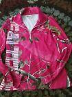 RealTree Xtra APC Pink Camo 1/4 Zip Long Sleeve Pullover Jacket Shirt Women's M
