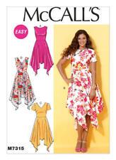 McCall's Sewing Pattern M7315 SZ 14-22 Misses' Easy Handkerchief-Hem Dresses