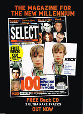 Select Magazine December 1997 Original Music Magazine Ad Advert 1997 #Beck