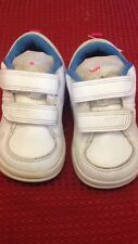 Nike - scarpe da ginnastica - N° 21 - colore bianco e azzurro - chiusura velcro