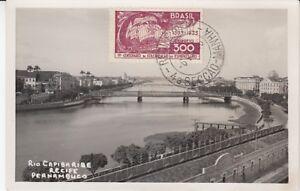 Carte Postale Brésil Rio Capibaribe Recife Pernambuco 1936