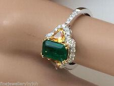 Emerald Halo White Gold Fine Rings