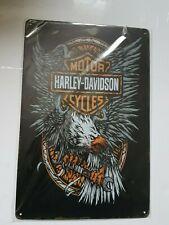 Harley Davidson Eagle Metal Sign Plaque Man cave Garage Motorcycle Retro Vintage