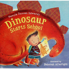 Preschool Bedtime Story Book - DINOSAUR STARTS SCHOOL by Pamela Duncan Edwards