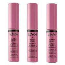 NYX Butter Lip Gloss Lipgloss BLG04 Merengue Pink Lilac 0.23oz. Brand New 3 Pack