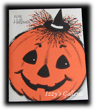 Vintage Stanley Art Guild Greetings Halloween Pumpkin Ghost To Show Card RARE