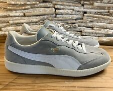 Puma Liga Suede 341466 77 Grey White Lace Up Casual Trainers Sz 8