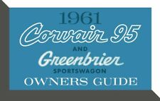 1961 Chevrolet Corvair 95 and Greenbrier Owners Manual User Guide Reference Book