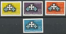 ARGENTINIEN 1966 Arg. Caritas-Verband VIER ungezähnte postfr. ESSAYS/PROBEDRUCKE