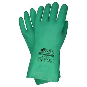 144 Paar NITRAS 3450 Chemiekalien - Schutzhandschuh, EN374, Nitril, grün, G 7-11