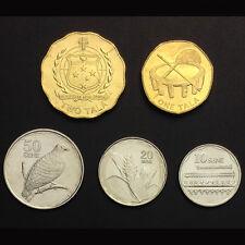 [S-2] Western Samoa Set 5 Coins, 10 20 50 Sene +1 2 Tala, 2011, UNC