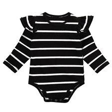12-18M black Infant Baby Boy Girl Cotton Romper Jumpsuit Bodysuit Clothes Outfit