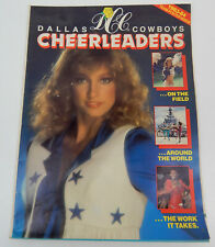VTG Dallas Cowboys CHEERLEADERS 1983-84 Poster Foldout Booklet 24 x 36 Size