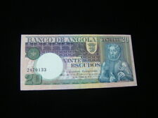 Angola 1973 20 Escudos Banknote Gem Unc. Pick #104a Very Nice!!
