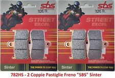 782HS - 2 Coppie Pastiglie Freno Anteriori SBS Sinter per Triumph Daytona 675