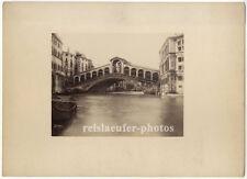Venedig, Ponte di Rialto, Rialtobrücke, Original Albumin-Photo, ca 1880