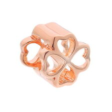 1PC European Charm Spacer Beads Lucky Clover Hollowed Jewelry Findings 10x10mm