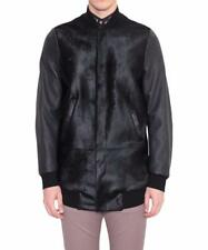 Mainline Paul Smith Mollet Cheveux Veste en cuir Medium Noir Large RRP £ 2000