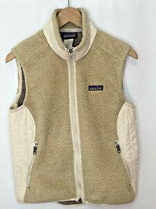 PATAGONIA SYNCHILLA Sherpa Fleece Vest, Women's Medium, Off-White