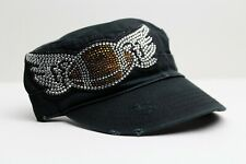 Olive and Pique Rhinestone Cadet Bling Cap