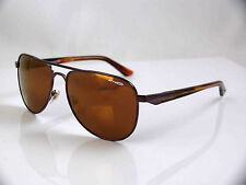 ARNETTE ONE TIME UNISEX AVIATOR SUNGLASSES BR HAVANA METAL FRAME MIRROR LENS NEW