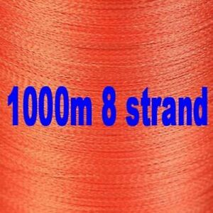 Braided Fishing Line 8 Strand 1000m Super Power Multifilament PE Cord Ultra High