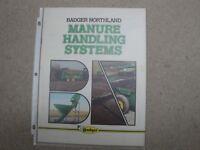 Badger Northland Manure Handling Systems Advertising Brochure