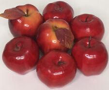 "7 Artificial Faux Apples Red Delicious Fruit Plastic Fake Decorative Prop 3"""