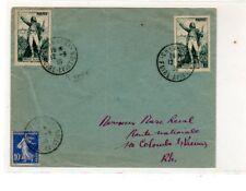 111017)..POSTE AERIENNE...lettre CHAMBERY avec rare cachet foire aviation