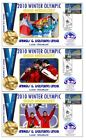 A & W LINGER 2010 OLYMPIC LUGE SET OF GOLD COVERS