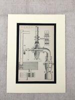 1880 Antique Print Victorian Pump Mechanical Engineering Diagram 19th Century