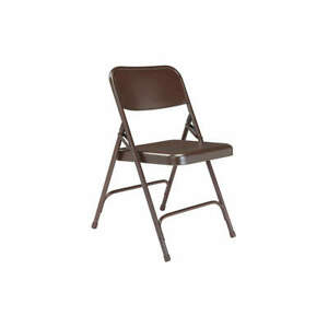 NATIONAL PUBLIC SEATING 203 Folding Chair,Brown,Steel,Unpadded,PK4
