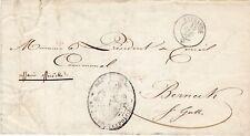 SUISSE lettre 1852 justice et police canton de VAUD LAUSANNE pour St GALLEN
