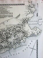 Marblehead downtown very detailed Essex County Mass. 1872 old map hand colored
