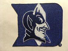 "duke patch DUKE BLUE DEVILS patch embroidered 2.5"" x 3"" iron or sew on patch"